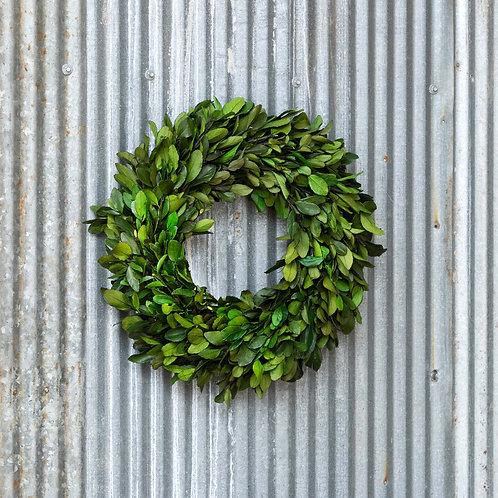 "16"" Gathered Laurel Wreath"