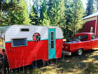 This SASSY Camper was designed to go with my '66 Ford, Boho/Gypsy ... enjoyed for a season....