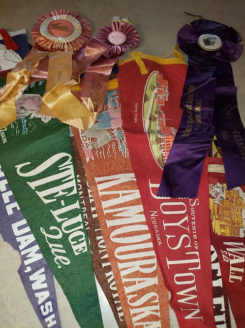 Vintage Pennant/Ribbon Collection