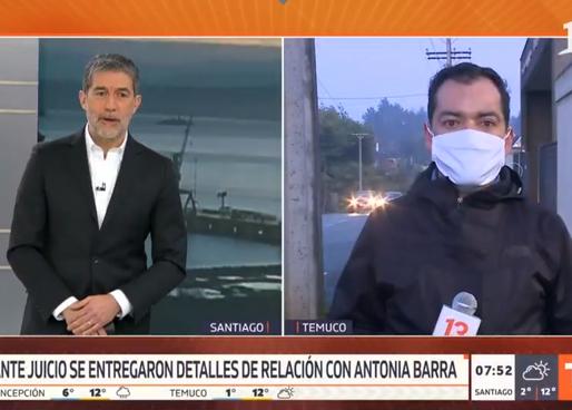 """Corresponsal de Canal 13 es despedido tras decir """"era una loquilla"""" en caso Antonia Barra"""