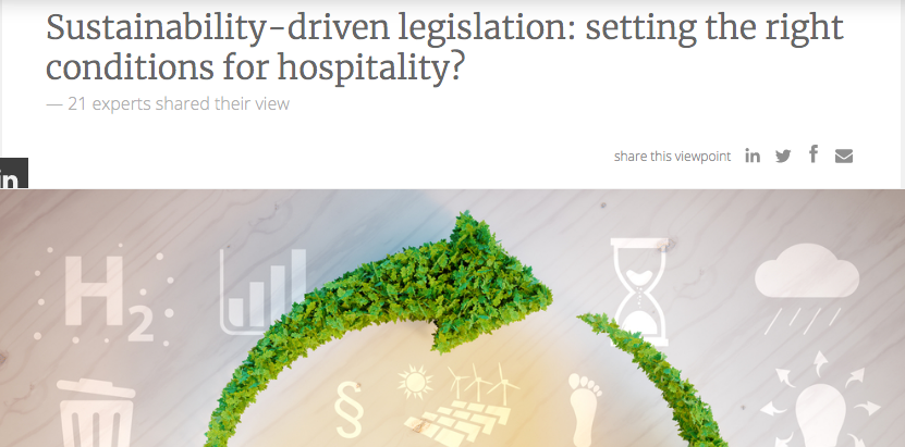 Sustainability-driven legislation: setting the right conditions for hospitality?