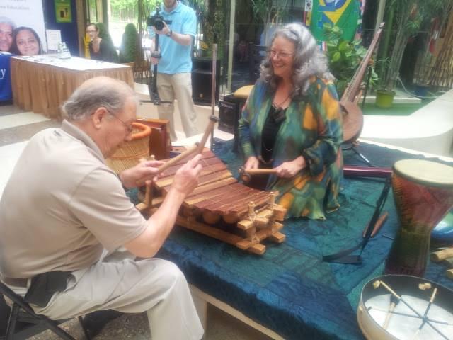Ann-Marie hosts an interactive sound workshop at Mosaic HomeCare Senior's Coffee Break