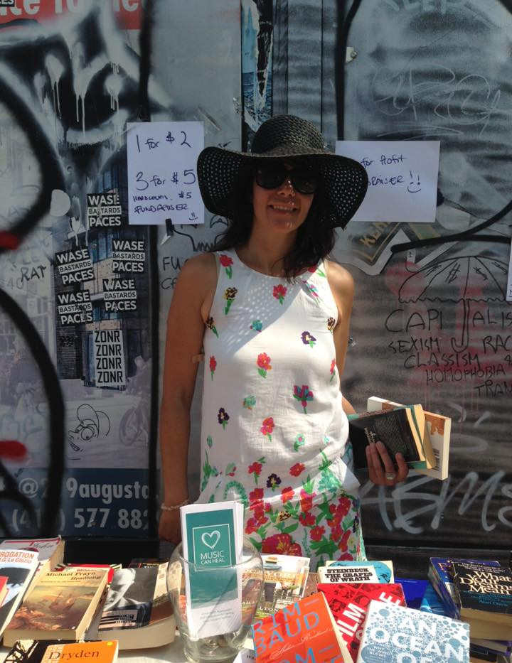 Talia at PSK street booksale fundraiser.