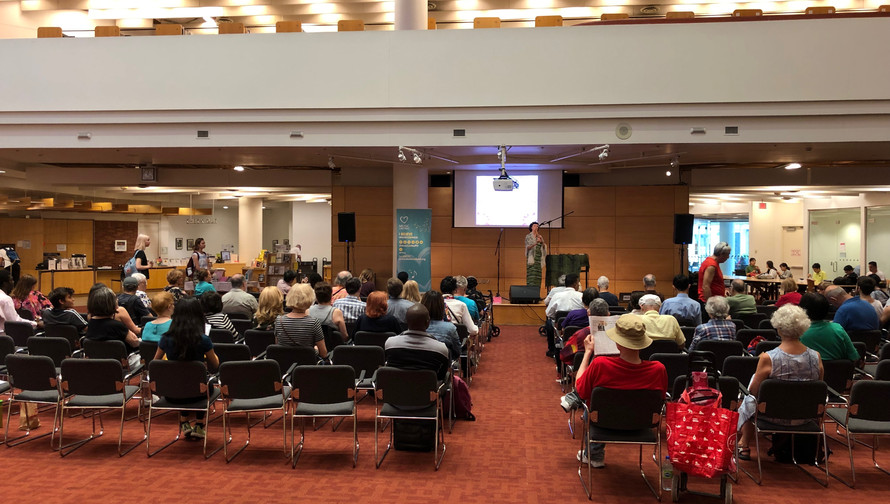 Debbie Danbrook to a full house  at Toronto Reference Library 2019