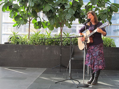 Kristin Lindell performs at Toronto General Hospital