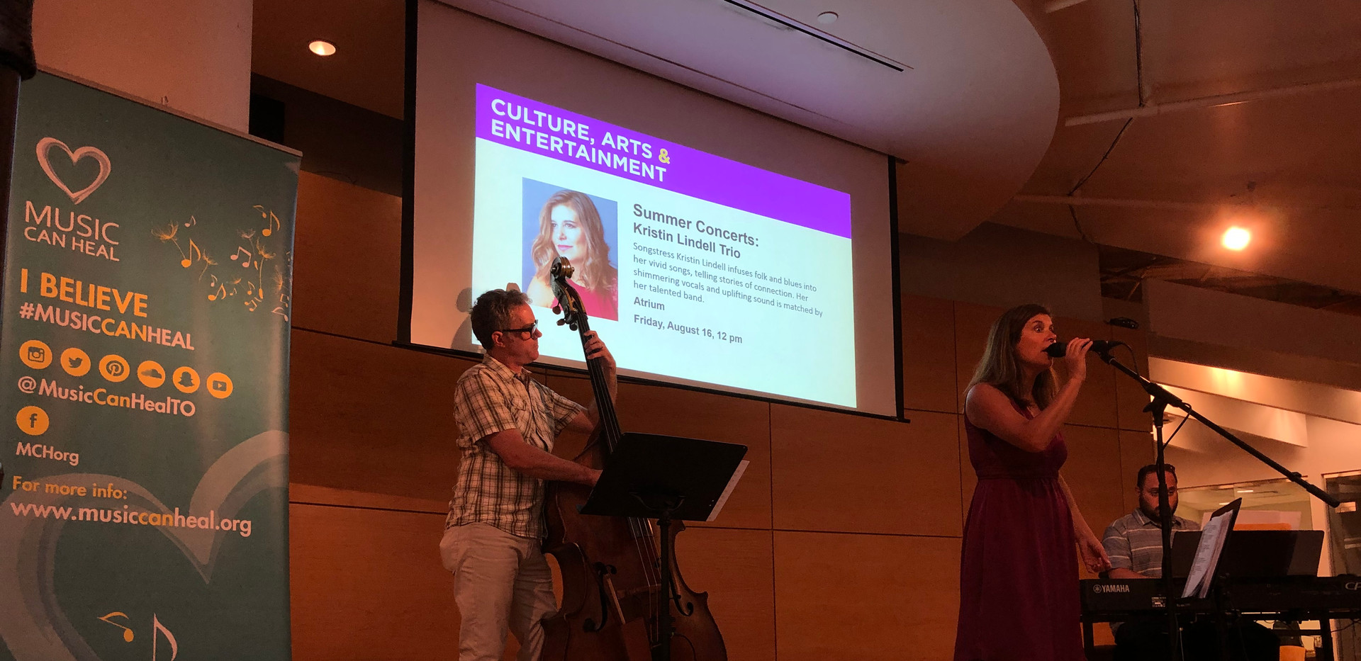 Kristin Lindell Trio at Toronto Reference Library 2019
