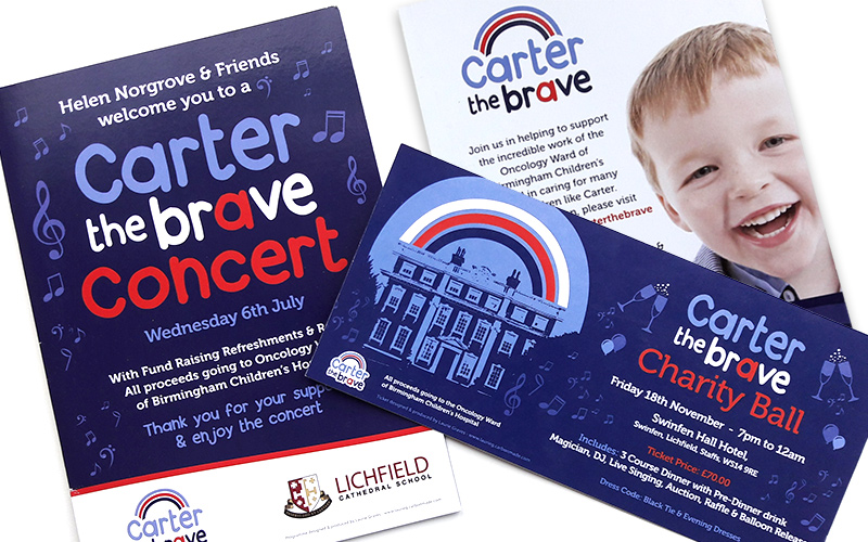 Carter the Brave Ball Ticket & Programme