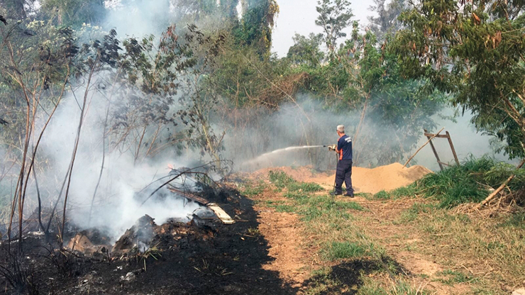 Três incêndios potencialmente perigosos atingem região da Capela VINHEDO
