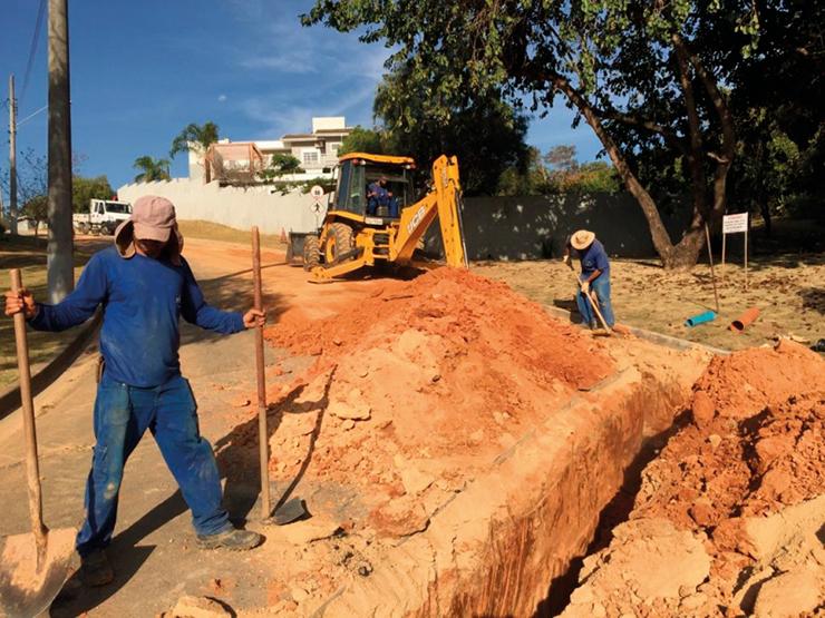 Sanebavi realiza substituição de adutora e moderniza abastecimento na região da Vila Hípica II VINHEDO