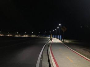 Iluminação da Ciclovia da Romildo Prado é finalizada