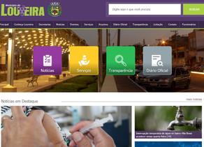 Novo site da Prefeitura de Louveira já está no ar