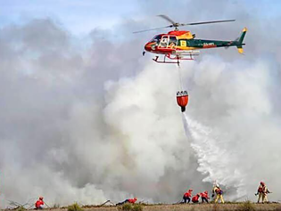 Município vai contar com auxílio de helicóptero para apagar grande incêndio no Santa Fé