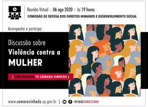 Violência contra a Mulher será tema de debate da Comissão dos Direitos Humanos