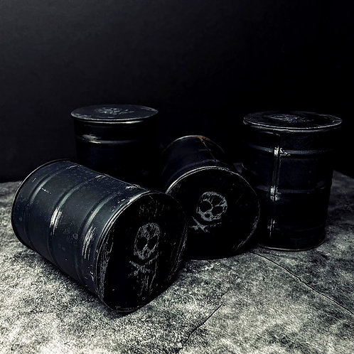 """Pete's Pirate Life Barrel Fire Candle """"Black"""""""