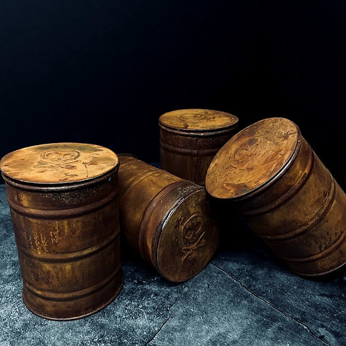 """Pete's Pirate Life Barrel Fire Candle """"Rust"""""""