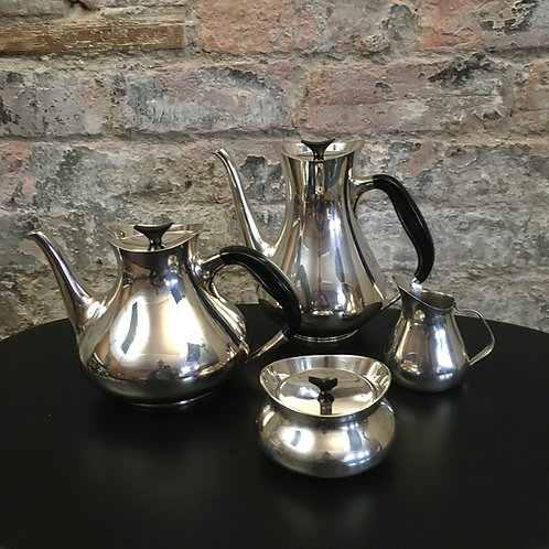 Cohr Denmark, coffee set designed by Hans Bunde