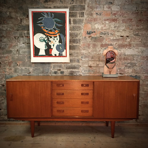Clausen and Son, Denmark. Compact teak sideboard SOLD
