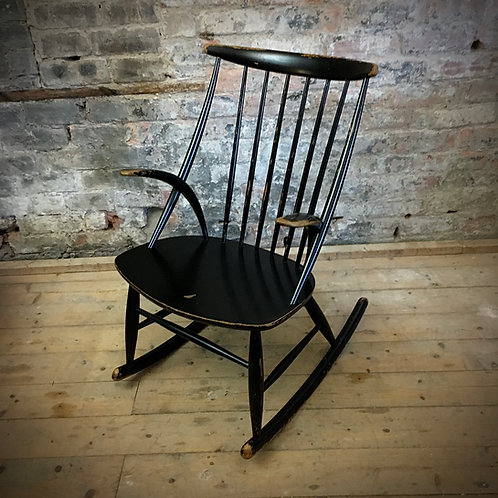 Illum Wikkelso  Danish Rocking Chair. SOLD.