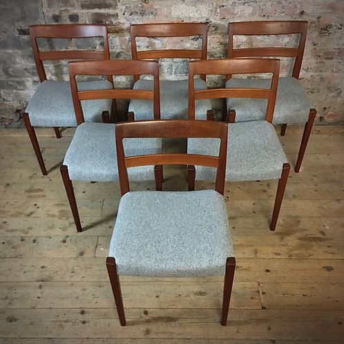 Troeds, Sweden. Set of six teak dining Chairs.