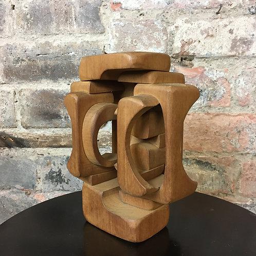 Brian Willsher (1930-2010). Hardwood Sculpture. 1970s. SOLD.