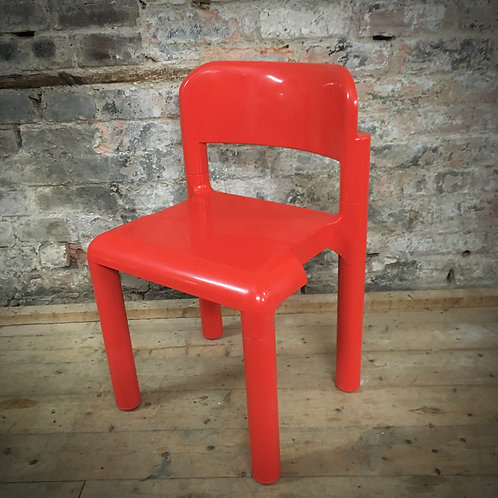 Eero Arnio stacking side chair for UPO Finland. 1970s.