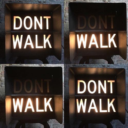 Vintage Original American 'Walk/Don't Walk light up sign