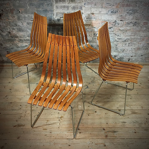 Hans Brattrud rosewood 'Scandia' chairs for Hove Mobler, Norway.