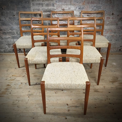 D-Scan. Teak Dining chairs. Designed in Denmark.