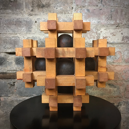 Vintage Large French  wooden Puzzle. 30cm