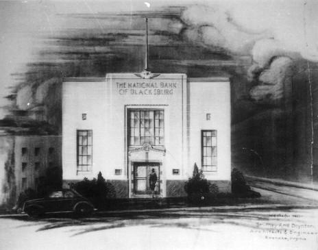 National Bank of Blacksburg Postcard