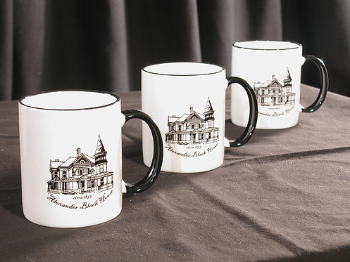 Alexander Black House Ceramic Mug