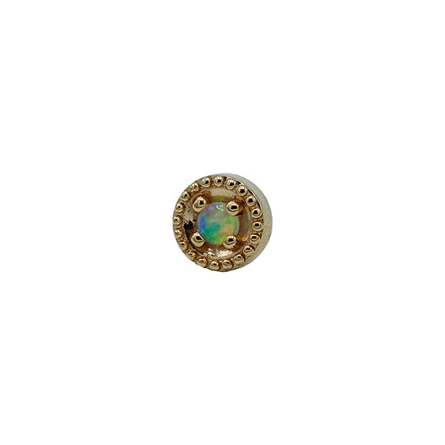 Round Harlequin with Opal AAA