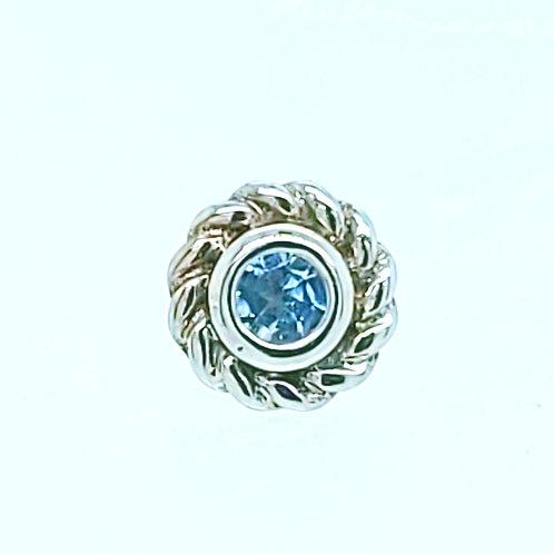Mini Choctaw in White Gold with Aquamarine