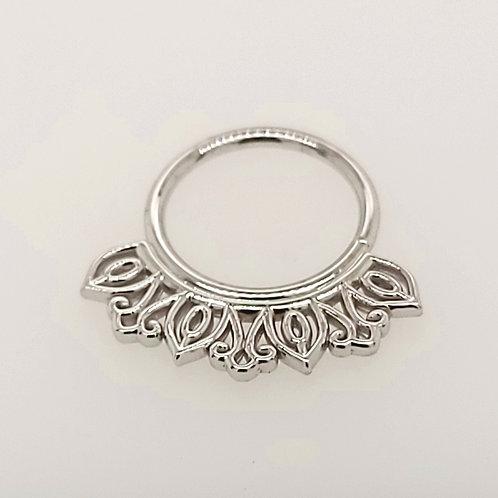 White Gold Mini Azalea Seam Ring