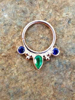 Genuine emerald & sapphires BVLA