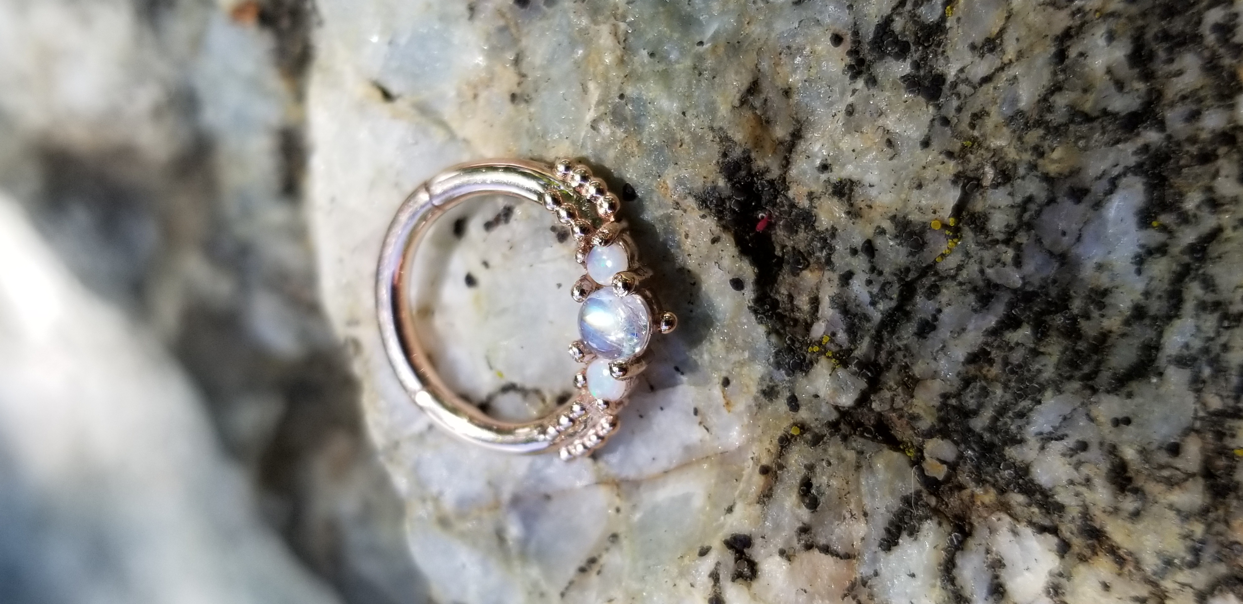 Genuine moonstone & opals