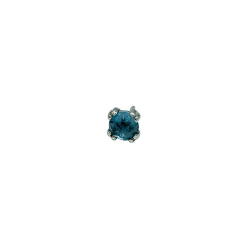 Round Cab Prong with London Blue Topaz