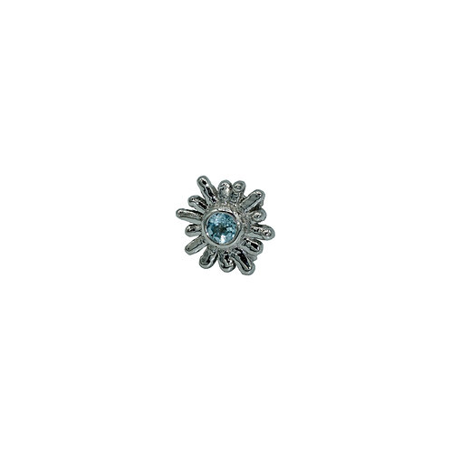 Small Sunray Swiss Blue Topaz