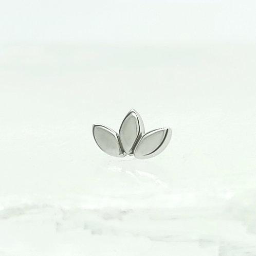 Flat Marquise Fan in White Gold