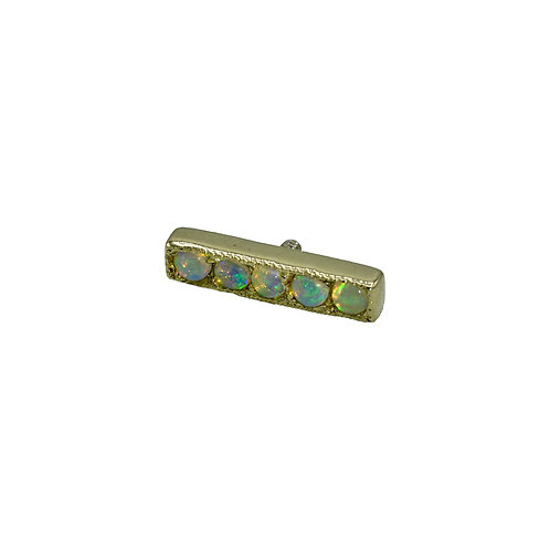 Pave Gem Strip with Opals