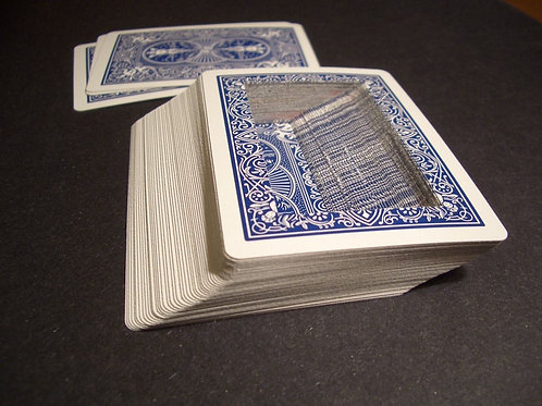 Bicycle Blue rectangle Hollow Deck