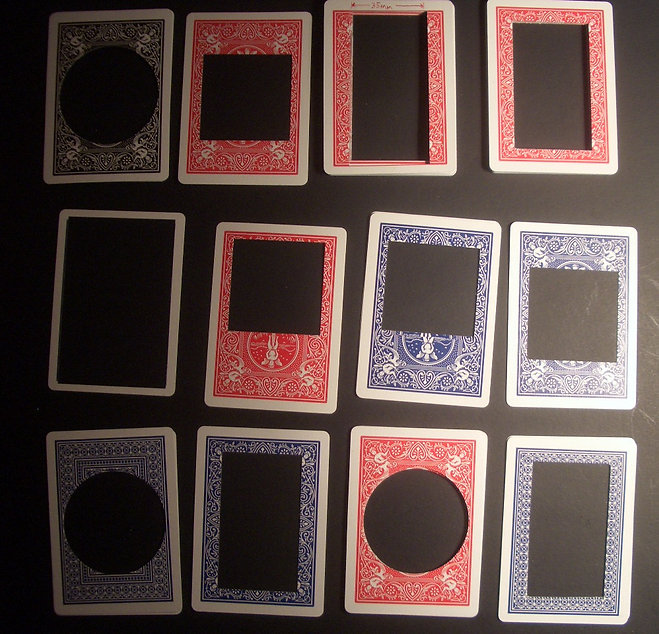 Bicycle cards cutouts