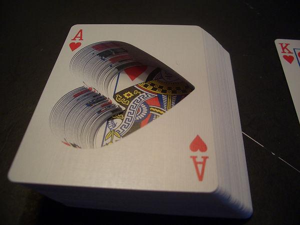 love heart hollow deck cards