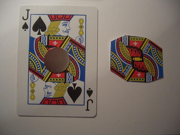 hiding a magnet in a card