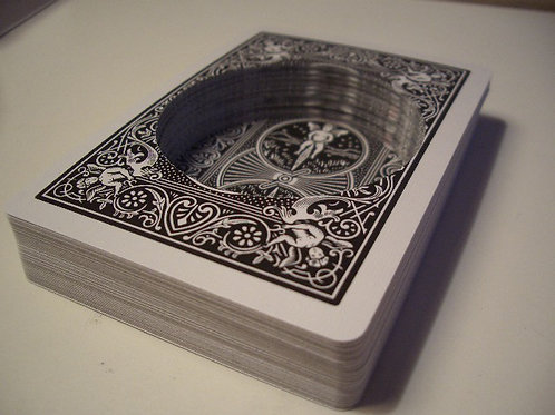 Black Bicycle Circle Hollow Deck