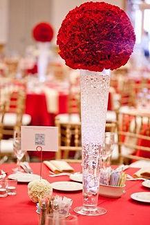 "Wedding 24"" Clear Pilsner/Cone/Trumpet Vase"