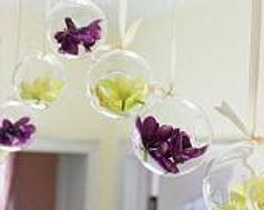 "Round Hanging Glass Vase Sphere 6"""