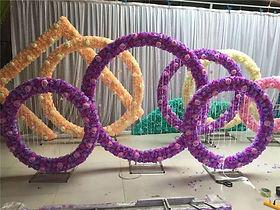 Round Circle Metal Backdrop Stand 2m/6.5feet diameter