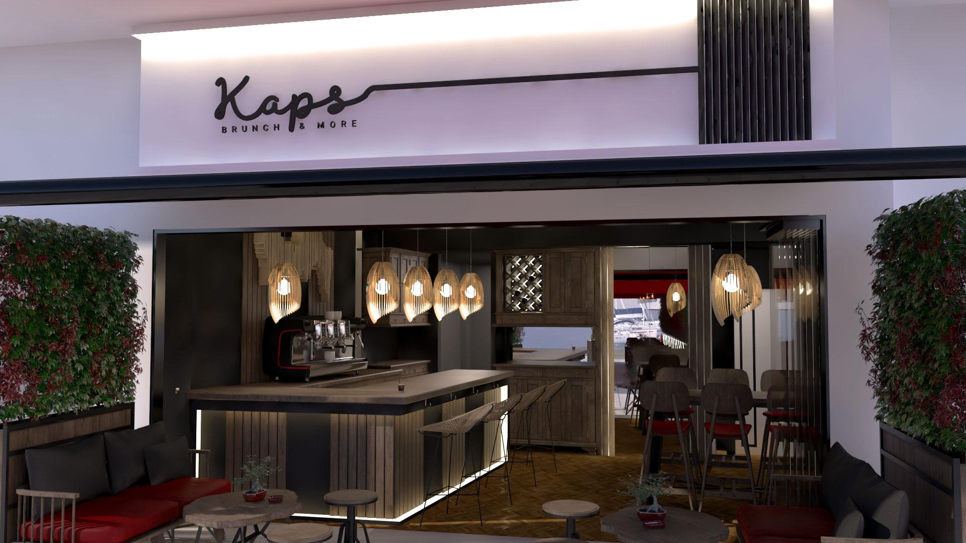 Kaps Brunch & More  | Interior Design | ZAFIRAKIS DIMITRIS