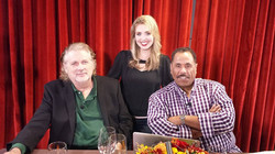 Stephanie Willis with Dave Pensado and Herb Trawick at Pensado's Place Taping